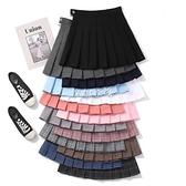 百褶裙女學生韓版2021裝新款高腰a字裙褲格子半身裙短裙子 SUPER SALE 快速出貨