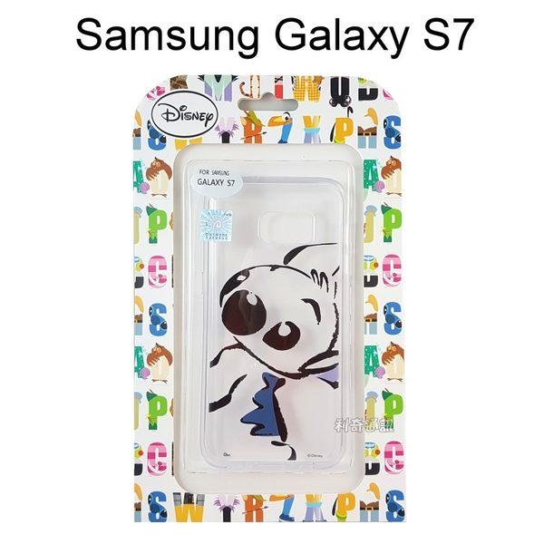 迪士尼透明軟殼 [素描] 史迪奇 Samsung G930FD Galaxy S7【Disney正版授權】