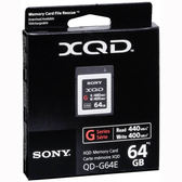 SONY XQD QD-G64E 64GB 440MB/s 高速XQD記憶卡 G系列 【台灣索尼公司貨】