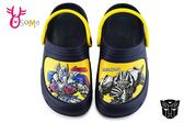 TRANSFORMERS變形金剛 中童 防水布希鞋 MIT 台灣製 園丁鞋 H5739#深藍◆OSOME奧森鞋業