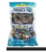 1E3A【魚大俠】BC041紐西蘭熟凍全殼淡菜(24-32顆/1kg/包)