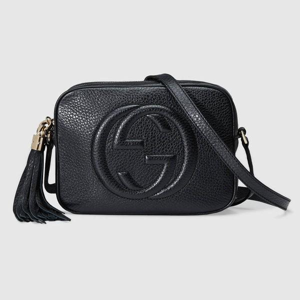 【雪曼國際精品】GUCCI 308364 A7M0G 1000 soho disco bag肩背包(黑色)─全新現貨