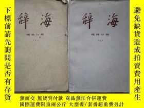 二手書博民逛書店罕見《辭海》理科分冊·上下冊全Y14328 上海辭書出版社 出版