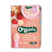 【Organix】英國 有機鮮果米糊 香蕉草莓120g