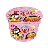 韓國 火辣雞肉風味鐵板炒麵碗麵(奶油白醬風味)105g【小三美日】團購/泡麵