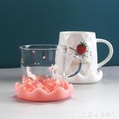 杯蓋新款杯蓋食品級環保硅膠卡通杯蓋積雪杯蓋馬克杯蓋水杯蓋子茶杯蓋 艾家