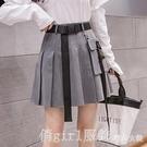 短裙 短裙2021年新款時尚百搭顯瘦高腰a字半身裙女春季外穿工裝百褶裙 618購物節