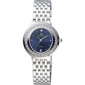 Olympia Star 奧林比亞之星 晶鑽女錶-藍/29mm 28045DLS