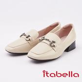 itabella. 經典馬銜扣樂福鞋(0227-00米色)
