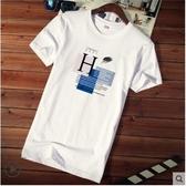 短袖T恤 男士短袖t恤衣服潮牌潮流純棉情侶半袖男裝夏季寬鬆體恤 韓流時裳