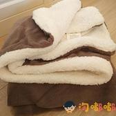 小毛毯沙發蓋毯羊羔絨雙層加厚珊瑚絨辦公室午睡空調兒童毯子【淘嘟嘟】