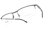 HUGO BOSS 光學眼鏡 HB0940 2P5 (槍黑-藍) 男士精品簡約款 # 金橘眼鏡