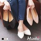 尖頭鞋-小資通勤平底包鞋
