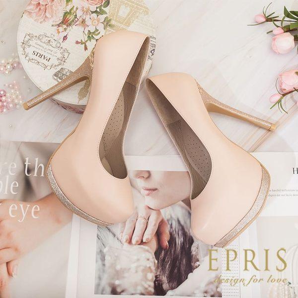 預購 圓頭超高跟鞋推薦 皇室公主 全羊皮舒適好穿跟鞋 21-26 EPRIS艾佩絲-甜美粉
