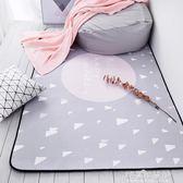 灰色床前北歐地毯 臥室滿鋪可愛客廳簡約茶幾墊 可機洗長方形地毯YYJ解憂雜貨鋪