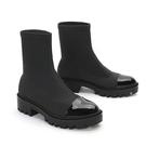 新款短靴女鬆糕厚底透氣學生馬丁靴中筒襪子裸靴平底切爾西靴 9號潮人館