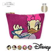 化妝包-日本Disney迪士尼-毛呢帆布手拿包/收納包-黛西粉色-玄衣美舖