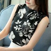 黑五好物節雪紡衫女2018夏季新款無袖打底上衣超仙氣質百搭甜美洋氣小衫時尚 熊貓本