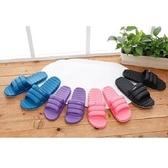 (e鞋院)羽絨風室內室外拖鞋土耳其藍26.5cm