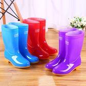 雨鞋雨靴膠鞋防水鞋套鞋水靴膠靴女中筒成人韓國時尚可愛防滑夏季 卡布奇诺