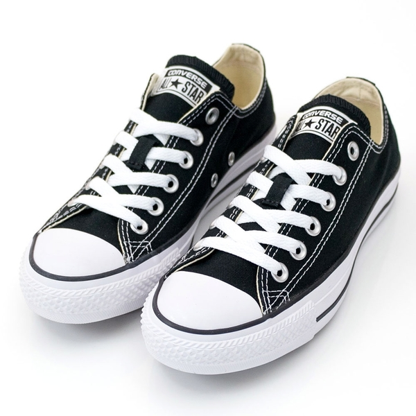 Converse Chuck Taylor All Star -男女基本款低筒黑色休閒鞋-  NO.M9166C