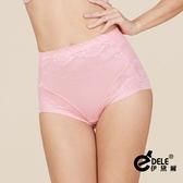 高腰280丹曲線緹花蕾絲修飾蠶絲塑身褲 M-XXL(俏麗粉)-伊黛爾