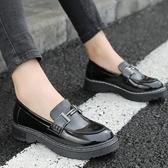 牛津鞋女 小皮鞋 春季新款英倫學院風休閒中跟復古百搭大碼女鞋韓版女鞋子《小師妹》sm3267