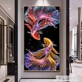 2020年新款5d鑚石畫滿鑚錦鯉客廳玄關點貼磚秀水晶十字繡珠繡2021 極簡雜貨