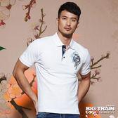 BIG TRAIN  加大濤浪家徽墨達人POLO衫-男-漂白