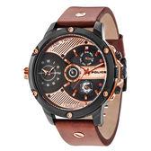POLICE  飛躍太陽系時尚雙時區腕錶-15049JSB-02