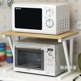 微波爐置物架微波爐架雙層家用廚房置物架子2層收納架不銹鋼多層落地架子xw