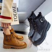 馬丁靴女英倫風短靴學生韓版單靴百搭靴子個性鞋子  『名購居家』