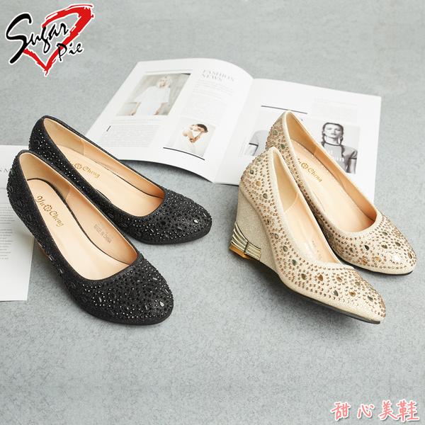 Sugar pie-韓版唯美鑲鑽娃娃鞋 #328-3