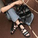 羅馬涼鞋 女仙女風新款夏季學院風百搭ins潮網紅厚底綁帶女鞋 - 古梵希