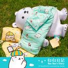 兒童睡袋 精梳棉鋪棉兩用睡袋/白白日記-...