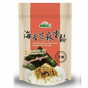 統一生機~海苔芝麻香鬆(全素)200公克/包