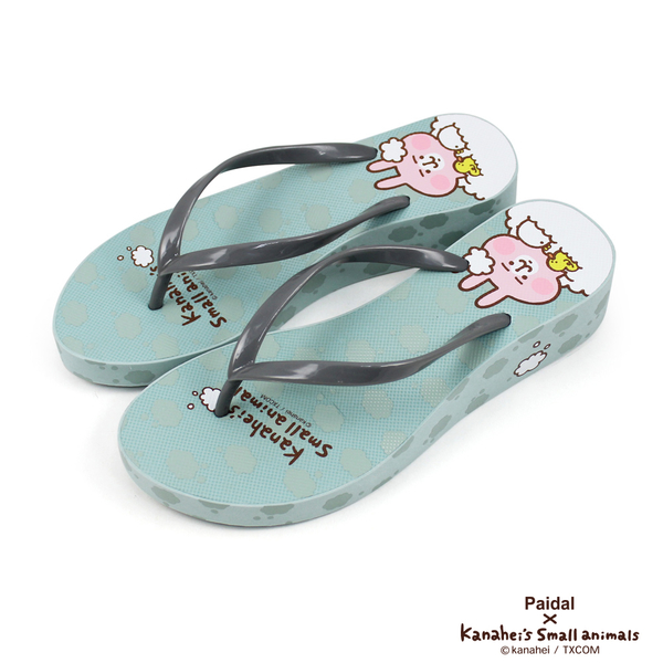 Paidal x 卡娜赫拉的小動物泡泡世界厚底夾腳涼拖鞋