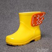 兒童雨鞋女童防滑水鞋小孩幼兒園小童雨鞋防水小學生男童寶寶雨靴-Ifashion