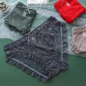 【促銷全場九五折】滿天星~日系大碼內褲女加肥加大包臀透氣蕾絲網紗200斤女士內褲