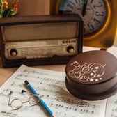 幸福森林.木製 發條式 選轉音樂盒 客製化禮物-星座 天秤男孩