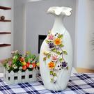 鍍金工藝品擺件 家居裝飾 新房裝飾 陶瓷鏤空浮雕花瓶 E款