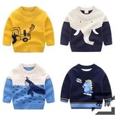 寶寶卡通毛衣 男女童童裝兒童套頭針織衫線衣潮【左岸男裝】