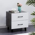 床頭櫃 簡約現代儲物柜輕奢床頭柜北歐風免漆收納臥室床邊柜TW【快速出貨八折搶購】