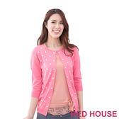 【RED HOUSE-蕾赫斯】波卡點點針織小外套(共二色)