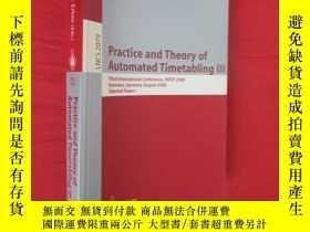 二手書博民逛書店Practice罕見and Theory of Automated Timetabling III (小16開)