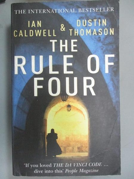 【書寶二手書T3/原文小說_LII】The Rule of Four_Ian Caldwell