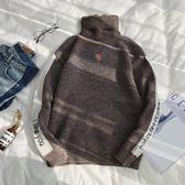 男士毛衣秋季2019新款韓版潮流寬鬆高領學生針織衫冬季原宿風毛衫