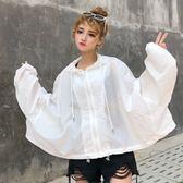 夏季防曬衣女短款學生韓版寬鬆原宿風薄款外套棒球服     樂芙美鞋