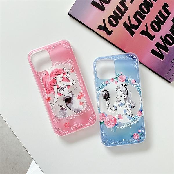 iPhone12 蘋果手機殼 預購 可掛繩 美人魚愛麗絲 矽膠軟殼 i11/iX/i8/i7/SE
