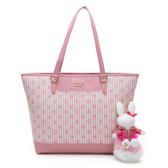 PLAYBOY- 托特包 龐克兔系列-粉色